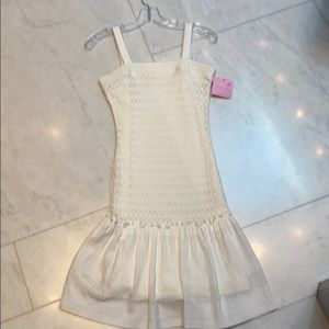 ZOE LTD youth girls white dress size 16